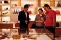 A couple shop at a Louis Vuitton store in downtown Shanghai. Photo: Reuters
