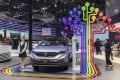 The Dongfeng Motor Group Co. AX7 plug-in hybrid electric vehicle (PHEV) stands on display at the Auto Shanghai 2019 show in Shanghai, China, on Wednesday, April 17, 2019. Photo: Bloomberg