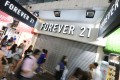 The Forever 21 shop in Mong Kok had the shutters down on Tuesday. Photo: Felix Wong