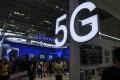 A 5G display at the Smart China Expo. Photo: AP