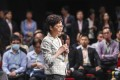 Hong Kong Chief Executive Carrie Lam meets the public during a community dialogue at Queen Elizabeth Stadium in Wan Chai. Photo: Winson Wong