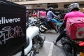 Food delivery apps Deliveroo and FoodPanda have seen an increase in orders between June and September, with weekend nights being the peak time for orders. Photo: Felix Wong