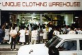 Crowds gather for the opening of the first Unique Clothing Warehouse, now known as Uniqlo, on June 2, 1984, in Hiroshima, Japan. A lot has changed since then for the Japanese retailer, whose roots go back to 1949. Photo: Uniqlo