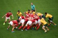 Wales and Australia played out a thrilling match in Tokyo. Photo: AFP