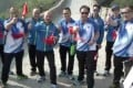 The Hong Kong police officers visited the Great Wall on Monday. Photo: Handout