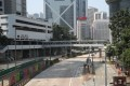 Famed for its hectic streets, several routes in Hong Kong on Tuesday looked abandoned. Photo: Winson Wong