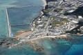 The relocation site for the US Marine Corps' Air Station Futenma, where land reclamation work continues, in Nago, Okinawa. Photo: Reuters
