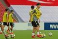 Ben Davis trains at the Singapore national stadium. Photo: Football Association of Singapore