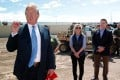 US President Donald Trump during a visit to the US-Mexico border. Photo: Reuters