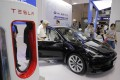 A Tesla model 3 on display at the World Artificial Intelligence Conference (WAIC) in Shanghai on August 30, 2019. Photo: EPA-EFE