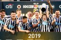 Matty Longstaff (centre) was part of the title-winning Newcastle United side at the Hong Kong Citi Soccer Sevens 2019 at Hong Kong Football Club. Photo: Eurasia Sport Images