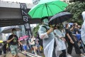 Anti-government protesters rally from Causeway Bay to Central in defiance of the anti-mask law. Photo: Sam Tsang