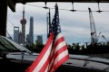 A US flag on an embassy car is seen outside a hotel in Shanghai in July this year. The trade war has put Beijing in the spotlight in America, and attitudes towards China, both in and outside Washington, have turned largely negative. Photo: Reuters