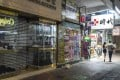 Shops in Causeway Bay closed early after protesters rallied against a new anti-face mask law on Friday, October 4. Photo: Roy Issa
