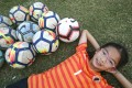 Aspiring football player Annabel Yue has written a book encouraging other young girls to take up the sport. Photo: David Wong