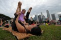 Parenthood: a balancing act many Singaporeans feel unprepared for. Photo: Xinhua