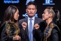 Angela Lee (left) and Xiong Jingnan face off in Tokyo. Photos: One Championship