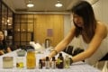 A Soap Yummy workshop in Hong Kong hosted by Karina Chang, who has developed her own natural soap bars and lip balms. Photo: Snow Xia