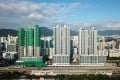 Cullinan West III (left), Cullinan West I and Cullinan West II (right) built by Sun Hung Kai Properties (SHKP) near the Nam Cheong subway station in Sham Shui Po. Photo: Wikipedia