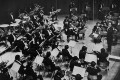 Lim Kek Tjiang, first music director of the Hong Kong Philharmonic, conducts the orchestra at the Hong Kong City Hall Concert Hall in 1974, the year the ensemble became fully professional. Photo: SCMP