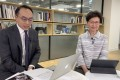 Carrie Lam conducts her second Facebook live session a day after her policy address. Photo: Facebook
