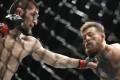 Khabib Nurmagomedov punches Conor McGregor at UFC 229. Photo: AP