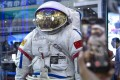 A space suit at an exhibition of high technologies and equipment in Yinchuan, northwest China. Photo: Xinhua