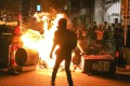 Protesters throw petrol bombs and set fires during scuffles with police in Hong Kong on September 29. There are those who profess sympathy and support for lawbreaking protesters, emboldening them. Photo: K.Y. Cheng