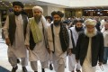 Members of the Taliban delegation arriving for previous talks in Moscow. A fresh round of intra-Afghan peace talks are being organised in Beijing. Photo: AP