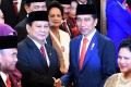 Indonesian Defence Minister Prabowo Subianto (left) and Indonesian President Joko Widodo. Photo: Antara Foto via Reuters