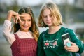 Russian child blogger Liza Anokhina (left) is only 12 years old, but already has 2.4 million followers on Instagram. Russia counts some 40 million Instagram users, behind only Indonesia, India, Brazil and the United States. Photo: AFP