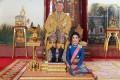 Thailand's King Maha Vajiralongkorn with (the now former) royal noble consort Sineenat 'Koi' Wongvajirapakdi. Photo: AFP