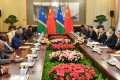 Solomon Islands Prime Minister Manasseh Sogavare meets Chinese leaders in Beijing this month. Photo: Reuters