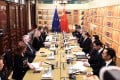 Delegations from China and the European Union meet in Beijing on Thursday. Photo: Twitter