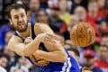 Andrew Bogut in action for the Golden State Warriors in the NBA. Photo: Craig Mitchelldyer/File Photo