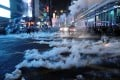 Multiple rounds of tear gas are fired on Nathan Road in Mong Kok. Photo: Sam Tsang