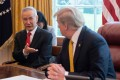 China's Vice-Premier Liu He speaks with US President Donald Trump during a trade meeting in Washington. Photo: AFP