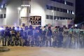 Police in Tuen Mun on Monday. Photo: Edmond So