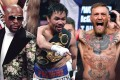 (Left to right) Floyd Mayweather, Manny Pacquiao and Conor McGregor have all earned millions both in and outside the ring. Photo: Wires