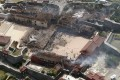 An aerial picture of the destroyed Shuri Castle after a fire ripped through the historic site in Naha, southern Okinawa prefecture, Japan. Photo: AFP