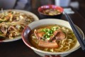 The Okinawan diet is renowned for being healthy. Okinawa Soba noodles with pork soft bone broth are a local speciality.