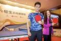 Louisa Cheang Wai-wan played a friendly table tennis match against former men's world No 7, Wong Chun-ting. Photo: Handout