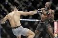 Corey Anderson knocks down Johnny Walker at UFC 244. Photo: AP