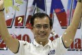 Manila mayor Isko Moreno celebrates his election earlier this year. Photo: AP