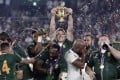 South Africa's Pieter-Steph du Toit celebrates with his teammates. Who else won at the Rugby World Cup? Photo: AP