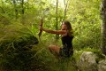 Miriam Lancewood spent the first two years in the wild using a bow and arrow before moving on to the rifle. Photo: Courtesy of Miriam Lancewood