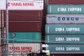 Shipping containers from China in Los Angeles. Photo: AFP