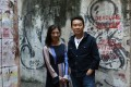 'The Feminine Awakens' exhibition curator Daisy Chan and artist Samues Leung, in Causeway Bay. Photo: Jonathan Wong