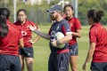 Hong Kong's head coach Iain Monaghan and his squad are hoping to play spoiler this weekend. Photos: HKRU