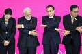 New Zealand's Prime Minister Jacinda Ardern, Indian Prime Minister Narendra Modi, Chinese Premier Li Keqiang and Thai Prime Minister Prayuth Chan-ocha hold hands at the third Regional Comprehensive Economic Partnership summit in Bangkok, Thailand, on November 4. India later decided not to sign the pact. Photo: Reuters